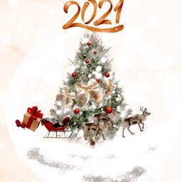 merrychristmas happynewyear holliday happy newtaglist covid19 2021 new year love tysm french english piscart freetoedit 🧚🏻♀️