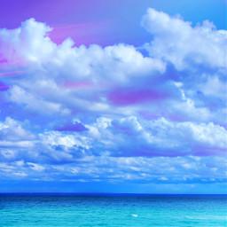 mypic ocean beach clouds remixit freetoedit