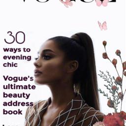 vougetrend magazine limitededition arianagrangeedit pinkflowers softlook freetoedit