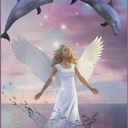 angel dolphins sky light wings sumptuousqueen freetoedit fcmybesteditsof2020 mybesteditsof2020