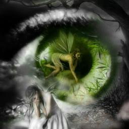 freetoedit eye soul innersoul despair realworld dicotomic surreal surrealism darknessandlight peace green lush dead dark sadness pa fx picsart madewithpicsart masterstoryteller parietalimagination