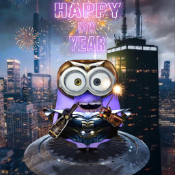 minions minion thanos marvel universal crossover fanart city night chicago ronaldbirdhenley fireworks happynewyear2021 ufo alienized uhd wallpaper editedwithpicsart freetoedit