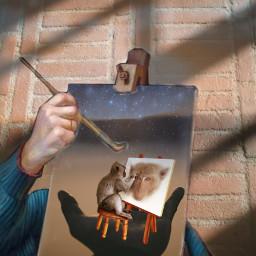 painting freetoedit ircinmyhand inmyhand