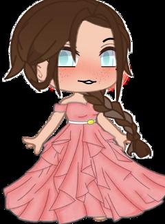 gacha gachagirl brownhair pink pinkdress freetoedit