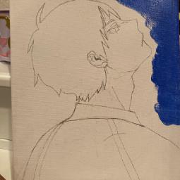 kageyama haikyuu painting picsart follow4follow 4upage