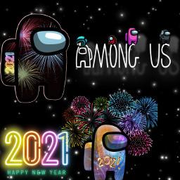 amongus 2021newyear freetoedit srchappynewyear2021 happynewyear2021
