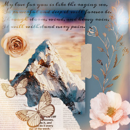 mountains flowers butterflys quotes freetoedit