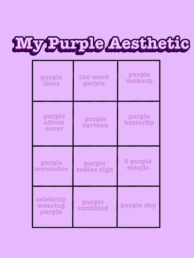 #chart #boxes #challenge #color #aesthetic #purple
