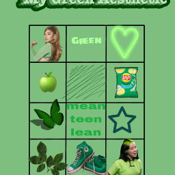 chart boxes challenge color aesthetic mygreenaesthetic arianagrande green freetoedit