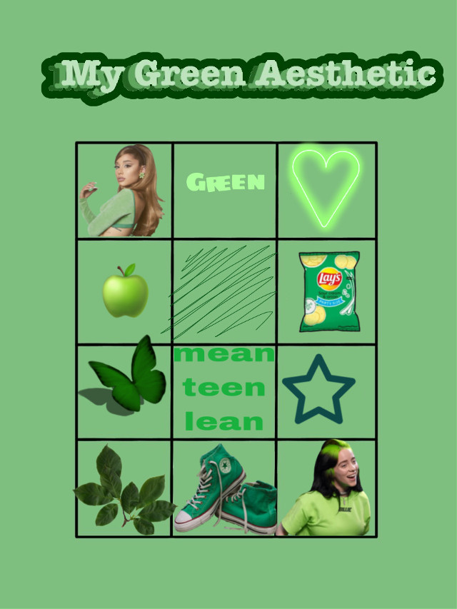 #chart #boxes #challenge #color #aesthetic #mygreenaesthetic #arianagrande #green