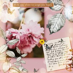 butterflys flowers vintage freetoedit