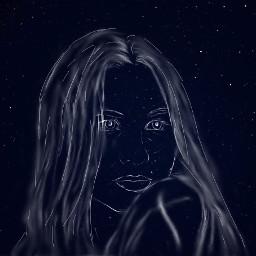 freetoedit sky night stars wish universe drawing blue hopeful missyou meaning important