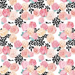 freetoedit paper pattern print background hintergrund crafting scrapbooking flower blumen leopard leo leopardprint rose roses