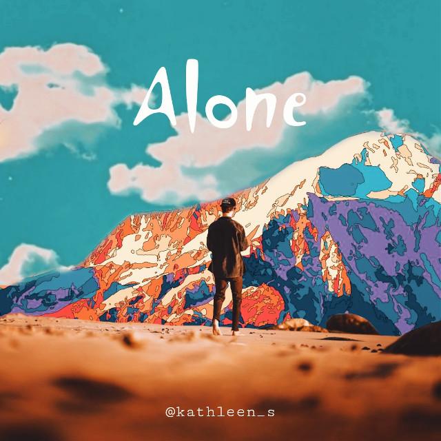 #freetoedit  #alone  #sky #montain #imagination  #bluesky  #colorful #boy #heypicsart  #edit  #nature  #boyalone  #dynamicworld