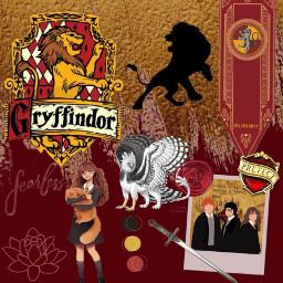 gryffindor hermionegranger harrypotter ronweasley hogwarts lion freetoedit