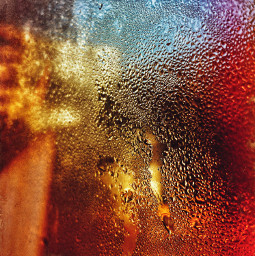 drops water colorful colors window abstract