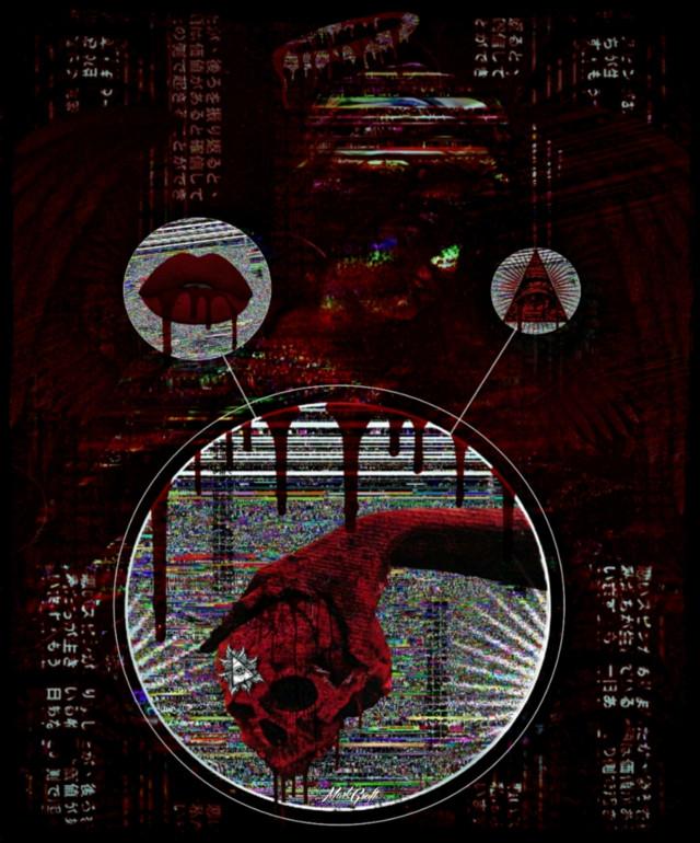 #myedit #myphotomyedit #angel #glitch #hand #skull #surreal #blood #allseeingeye #picsart #madewithpicsart #pa
