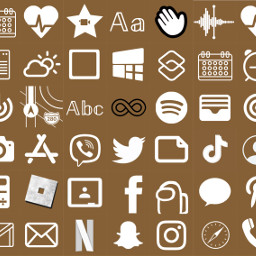 brown appicons homescreencustomization app freetoedit