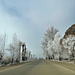 freetoedit armenia road ice winter mountain