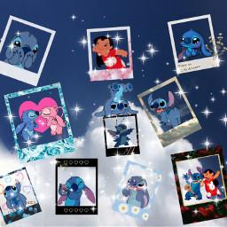 stitch lilo liloandstitch liloandstich cute polaroid love disney nuage friend freetoedit