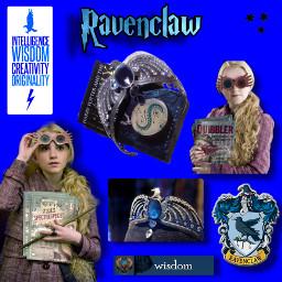 ravenclaw lunalovegood ravenclawcrown wise hogwartsschoolofwitchcraftandwizardry freetoedit