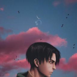 anime animeedits attackontitanlevi attackontitanedit animeedit animeediting animeeditor aestheticedit sky