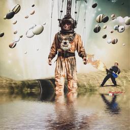 astronaut cosmonaut surreal myriam70 myriamphotoart alien