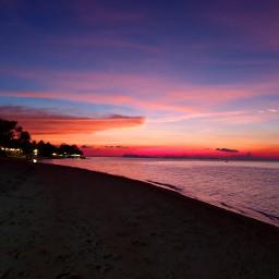 sunset thailand pink