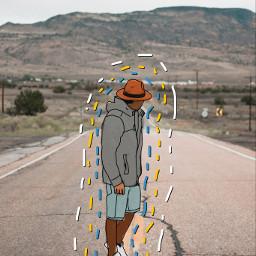 cartoon cartoonize boy colors lines nature freetoedit