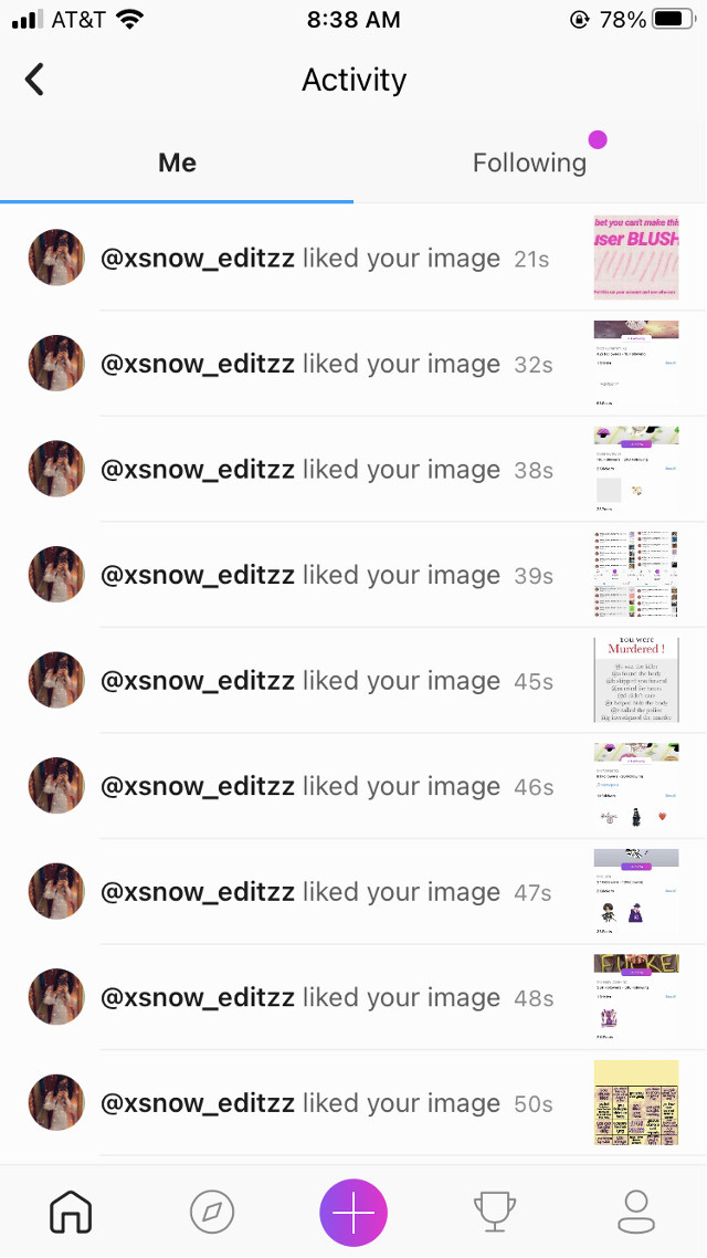 TYSM @xsnow_editzz for the like spam! Please go follow!! Have an amazing day/night!! 💖 #whyahashtag