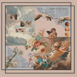 renaissance interesting art edit aesthetic news flower paper baby cupid greek roman eyes clouds photography freetoedit ectherenaissance therenaissance