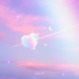 happynewyear2021 pastelsky sky contrail heart freetoedit