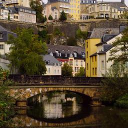 travel luxembourg bridge water waterreflections