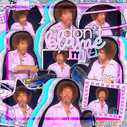bob ross bobross paint painter complex edit complexedit colorful pink blue aesthetic pinkaesthetic editor