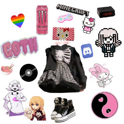 scene pastalgoth alt sanriocore sanrio alternative cosplayer gamer kinnie freetoedit
