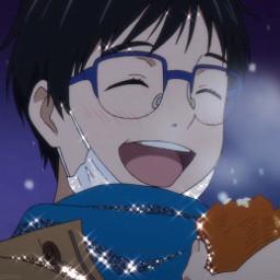 yurionice yuurikatsuki yuriplisetsky victornikiforov iceskating snow anime