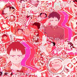 shinrakusakabe shinra fireforce firefighter asthetic astheticallypleasing astheticedit pink red anime animeedit sparkle sparkleedit complexedit complexanimeedit
