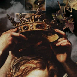 renaissance challenge art crown angel women queen king clouds darkaesthetic aesthetic renaissanceart renaissanceaesthetic freetoedit ectherenaissance therenaissance