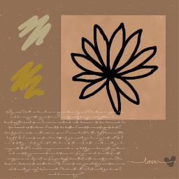aesthetic journal journaling flower flowers brown brownaesthetic warmneutrals warmtones warmtone aetheticedit drawing drawings colours colour freetoedit