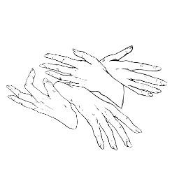 hug love drawing ink inkart