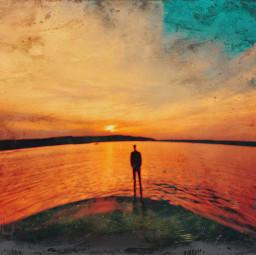 sea oneman sunset sky texture