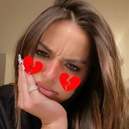freetoedit addisonrae red brokenheart cute beauty mood love hair makeawesome picsart heypicsart trendy remixme watch selfie