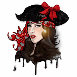 mixedmedia art dityschallenge piratewoman drawing painting collage artwork girl cyveart color digitalart illustration dripart freetoedit