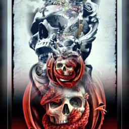 gothic skullart