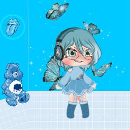 picsart blue shoes clothes anime animegirl freetoedit