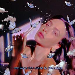 replay picsartreplay heypicsart trendy beauty stars glow butterflys woman creative freetoedit