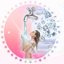 freeze cool water freetoedit ircglassofwater glassofwater