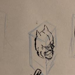 batman drawing yeet