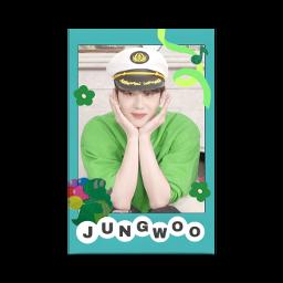 nct nct127 jungwoo card deco green 정우 포카 폴꾸 ジョンウ デコ ステッカー 緑色 みどり freetoedit