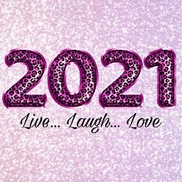 2021 inspirational live laugh love glitter sparkles leopardprint twentytwentyone pinkpurple background wallpaper calander2021